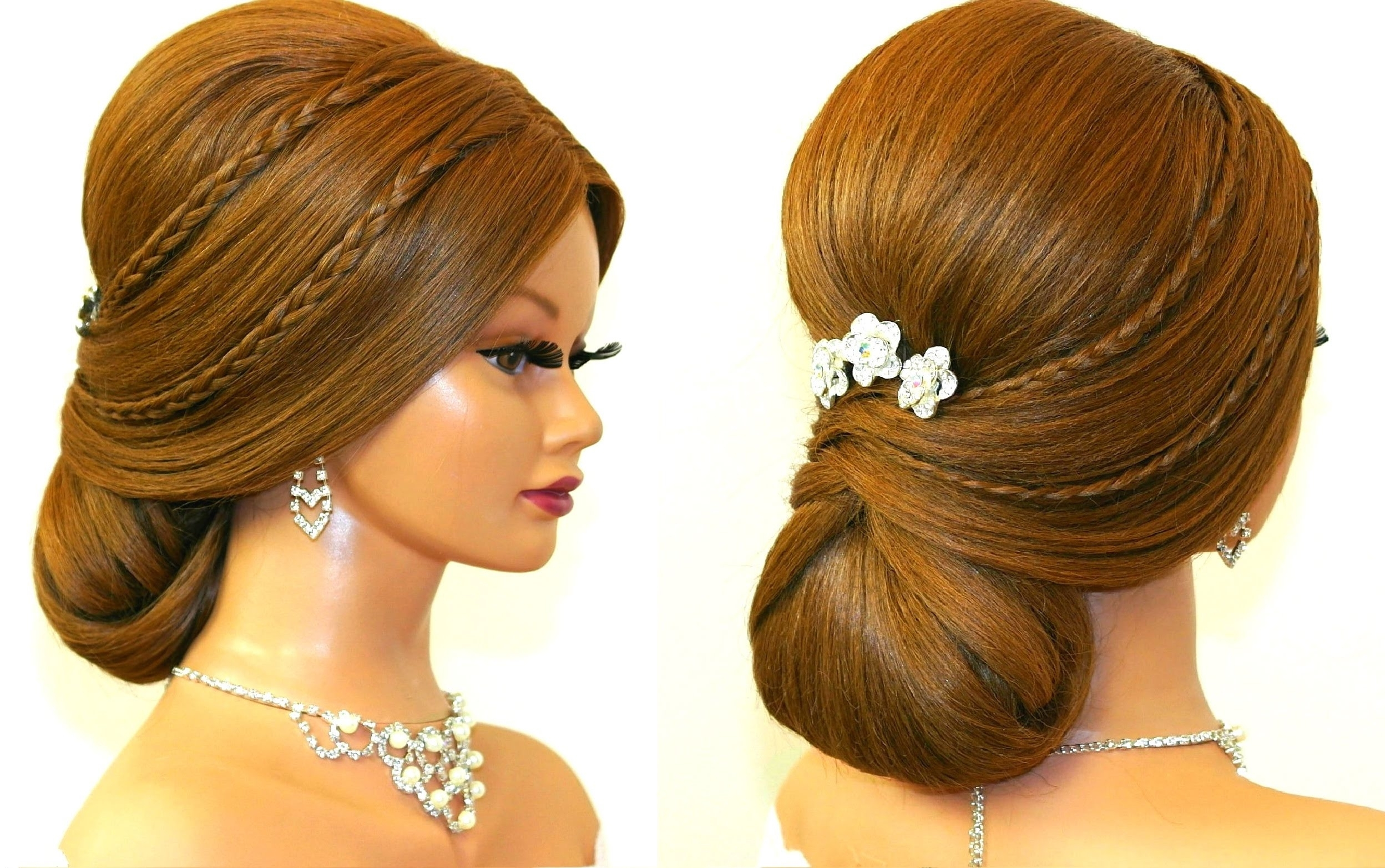 Fashionable Wedding Evening Hairstyles Regarding Wedding Prom Hairstyle For Long Hair Romantic Updo Sensational (View 3 of 15)