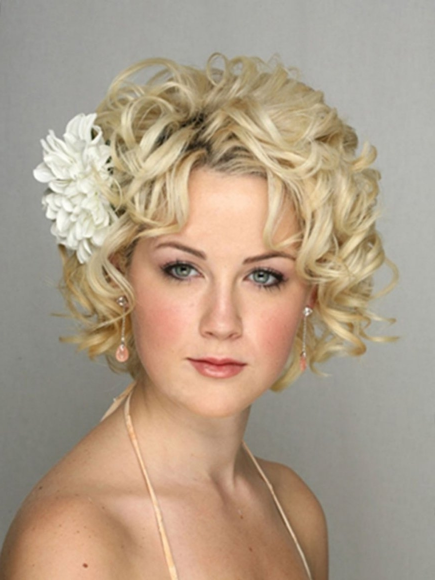 Fashionable Wedding Guest Hairstyles For Long Curly Hair With Short Curly Hairstyles For Wedding Guests (View 8 of 15)