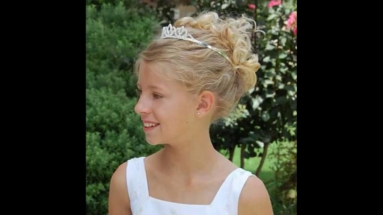 Fashionable Wedding Hair For Young Bridesmaids With Regard To Little Girl Wedding Hairstyles – Youtube (View 6 of 15)