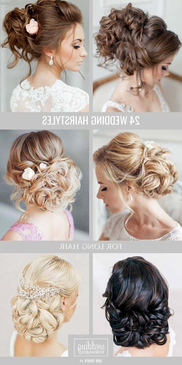 Fashionable Wedding Hairstyles At Home Pertaining To Bridal Hairstyles : 24 Bride's Favourite Wedding Hairstyles For Long (View 10 of 15)
