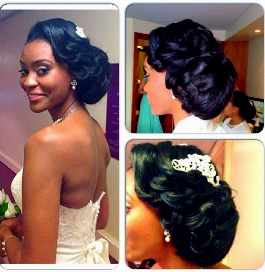 Fashionable Wedding Hairstyles For Black Woman For Wedding Hairstyles For Black Women – Hairstyles Inspiration (View 6 of 15)