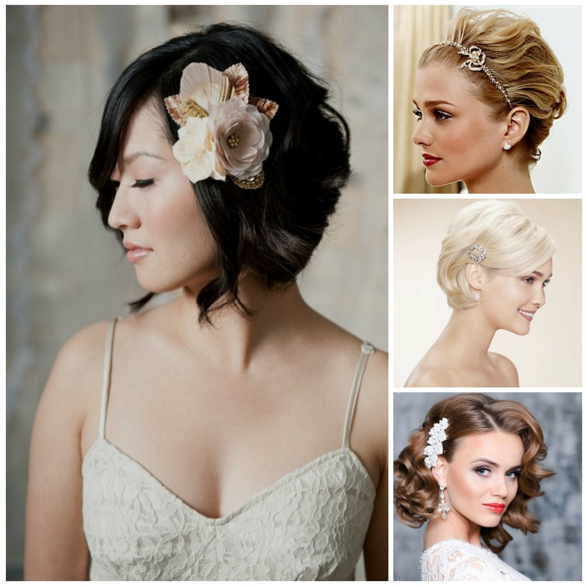 Fashionable Wedding Hairstyles For Long And Short Hair Regarding Best Bob Weddingstyles Ideas On Pinterest Short Look Pretty With (View 6 of 15)