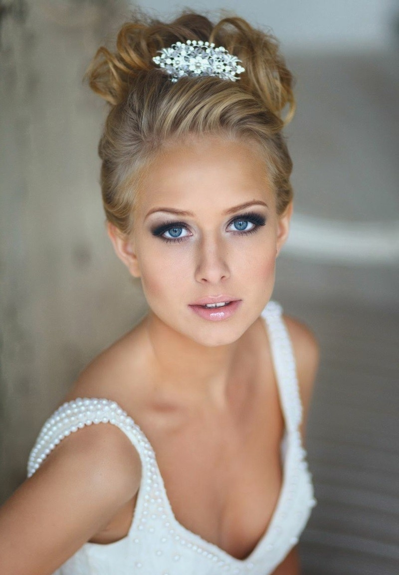Fashionable Wedding Hairstyles For Long Hair With Tiara Intended For Long Hairstyles : View Wedding Hairstyles For Long Hair Half Up With (View 3 of 15)