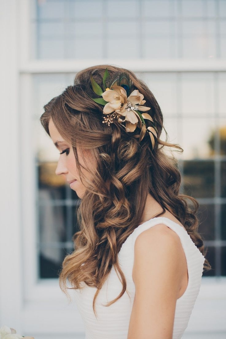 Fashionable Wedding Hairstyles For Medium Length Hair With Flowers With Wedding Updos For Medium Length Hair According To New Hair Wigs (Gallery 8 of 15)