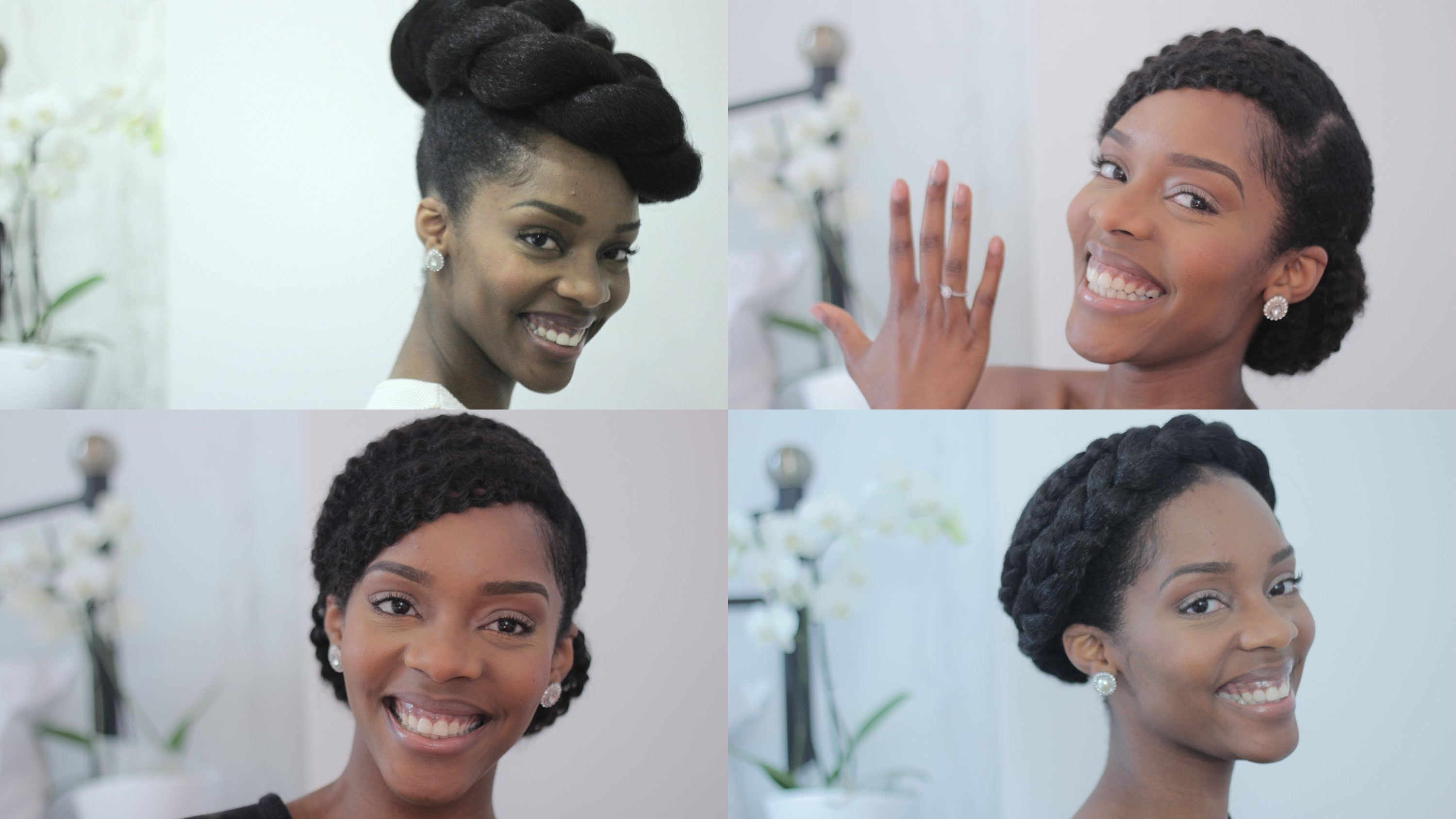 Fashionable Wedding Hairstyles For Short Natural Hair For Natural Bride/prom Tutorial (View 12 of 15)