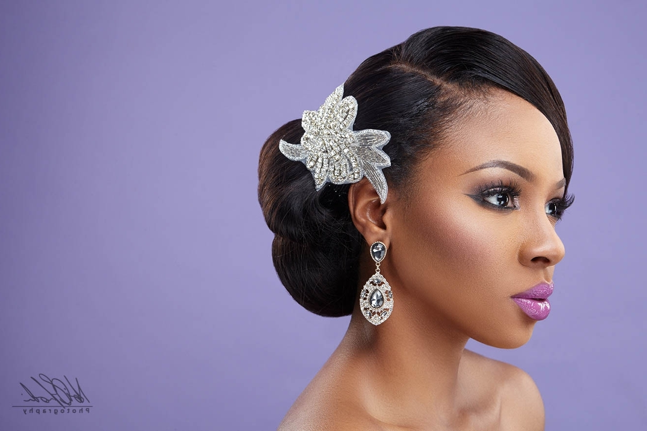 Fashionable Wedding Hairstyles With Braids For Black Bridesmaids For Ideas Hairstyles For Weddings African American Brides Wedding Hairck (View 5 of 15)