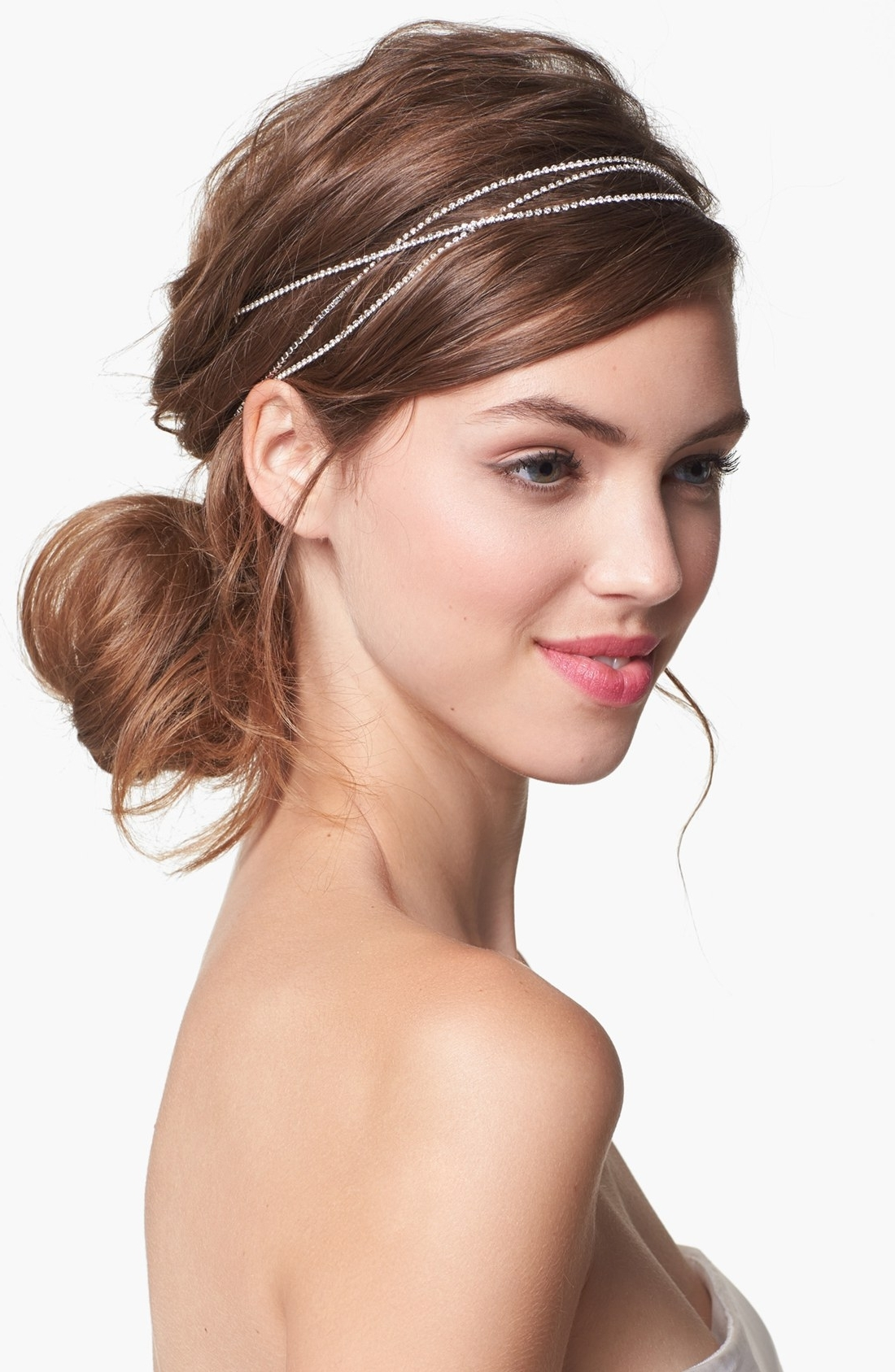 Fashionable Wedding Hairstyles With Jewelry Within Wedding Hairstyles : Hair Pieces For Wedding Simple Idea (View 3 of 15)