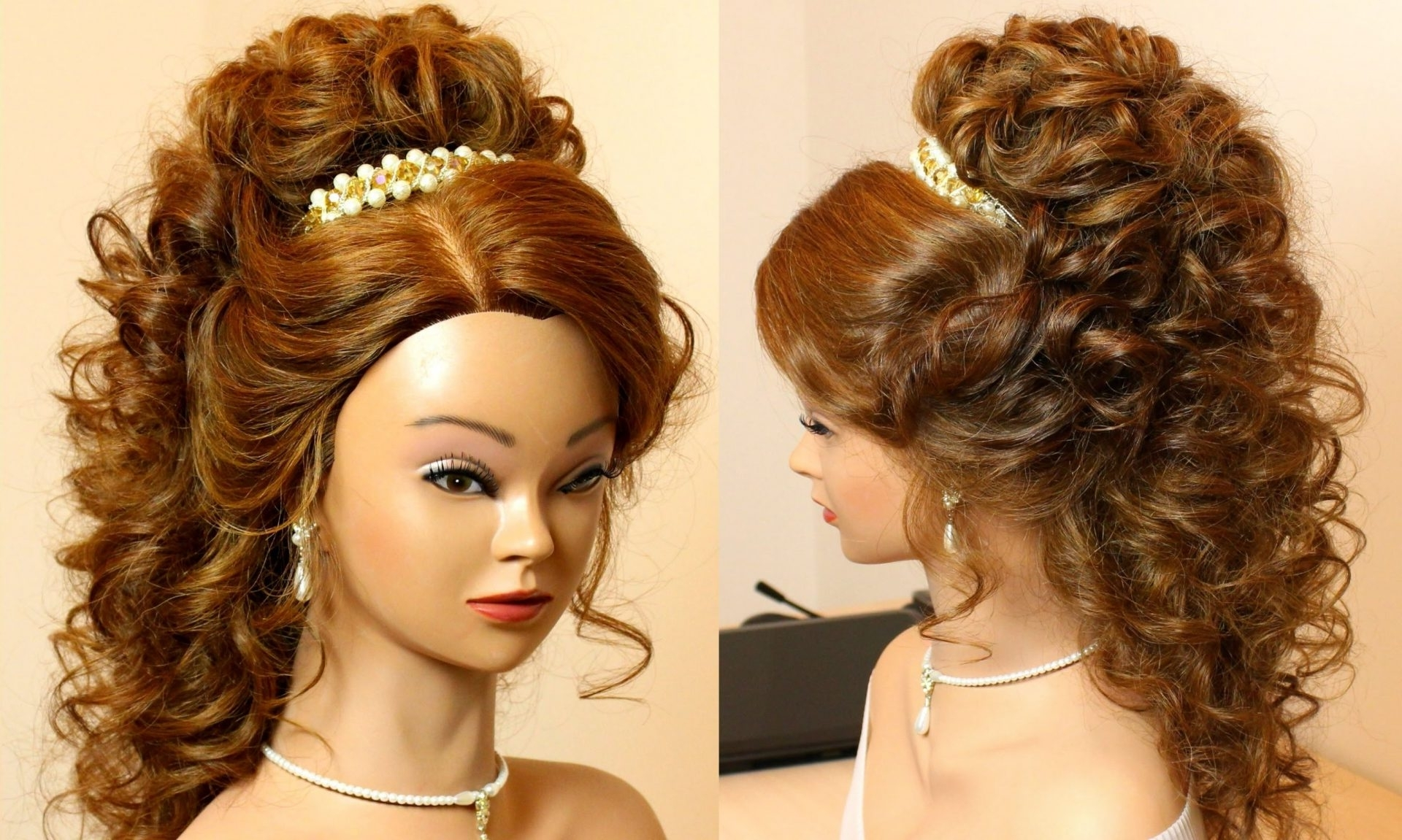 Fashionable Wedding Updos For Long Hair With Tiara Regarding Hairstylesurly Wedding Updo Long Bridal With Tiara And Veil (View 7 of 15)