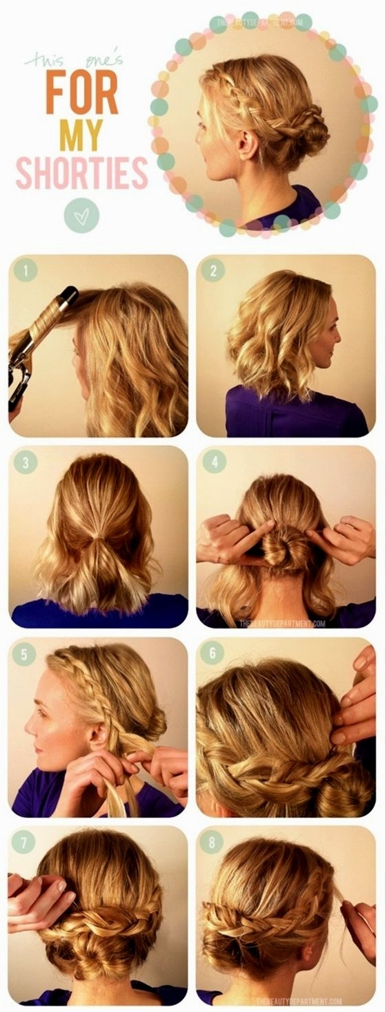 Favorite Easy Wedding Hairstyles For Bridesmaids Regarding Beautiful Easy Wedding Hairstyles For Medium Hair Ideas – Styles (View 7 of 15)