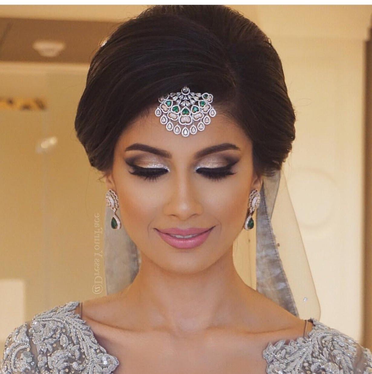 Favorite Indian Bun Wedding Hairstyles Regarding Classic Indian Bridal Updo – Youtube (View 7 of 15)