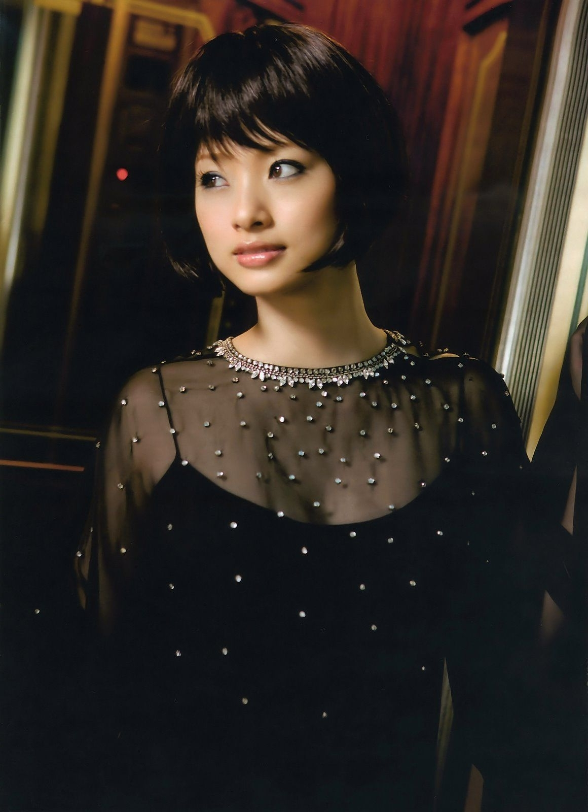 Favorite Japanese Wedding Hairstyles Intended For Waaah! Ueto Aya Looking Gorge With This Short Black Bob! #japanese (View 5 of 15)