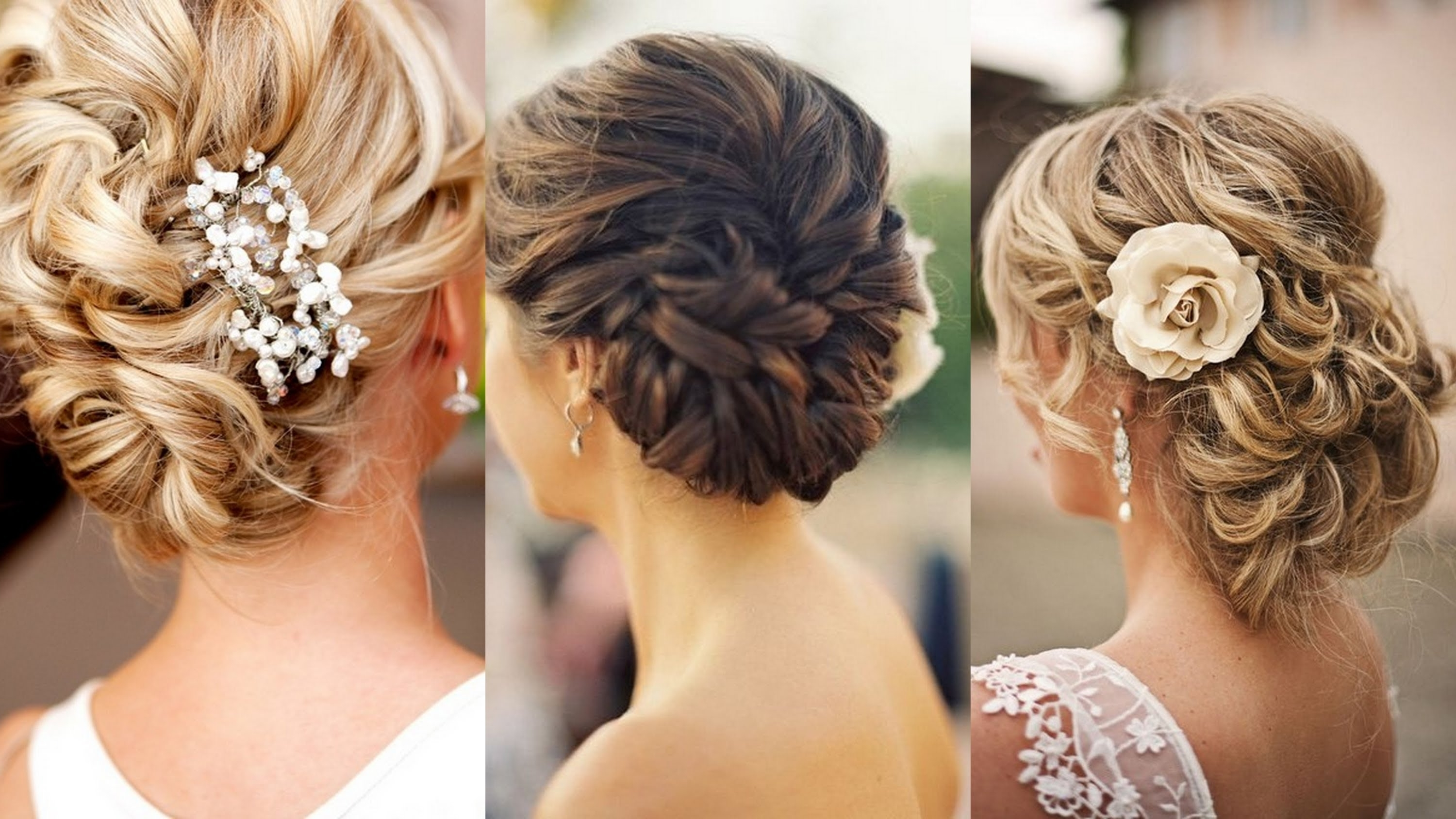 Favorite Upstyles Wedding Haircuts With Regard To 15 Glamorous Wedding Updos – Youtube (Gallery 1 of 15)