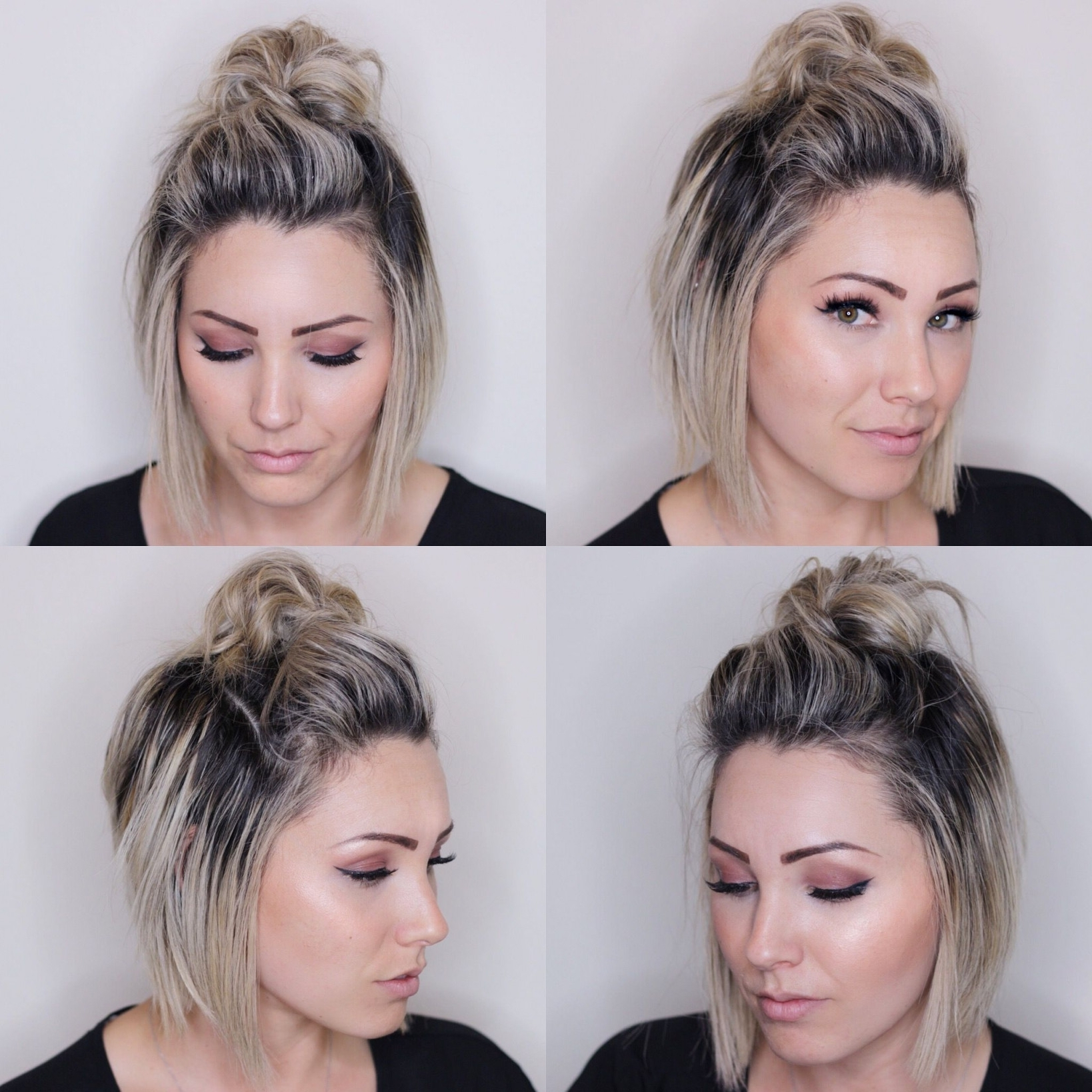 Favorite Wedding Bob Hairstyles For Short Hair Throughout Short Hair Ideas For A Wedding Awesome Top Knot For Short Hair Short (View 4 of 15)