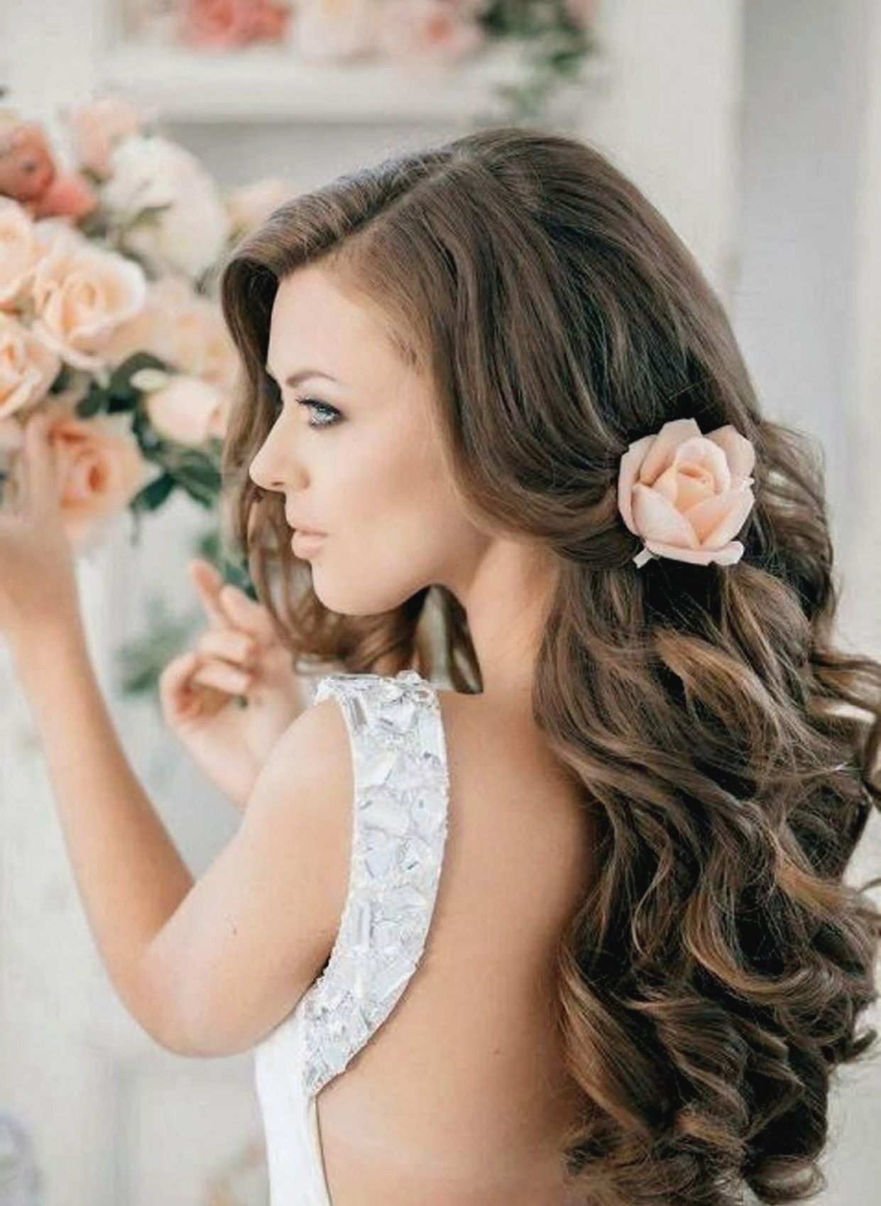 Favorite Wedding Guest Hairstyles For Long Curly Hair Intended For Long Curly Hairstyles For Wedding Guest – Hairstyle Pop – Curly Hair (View 9 of 15)