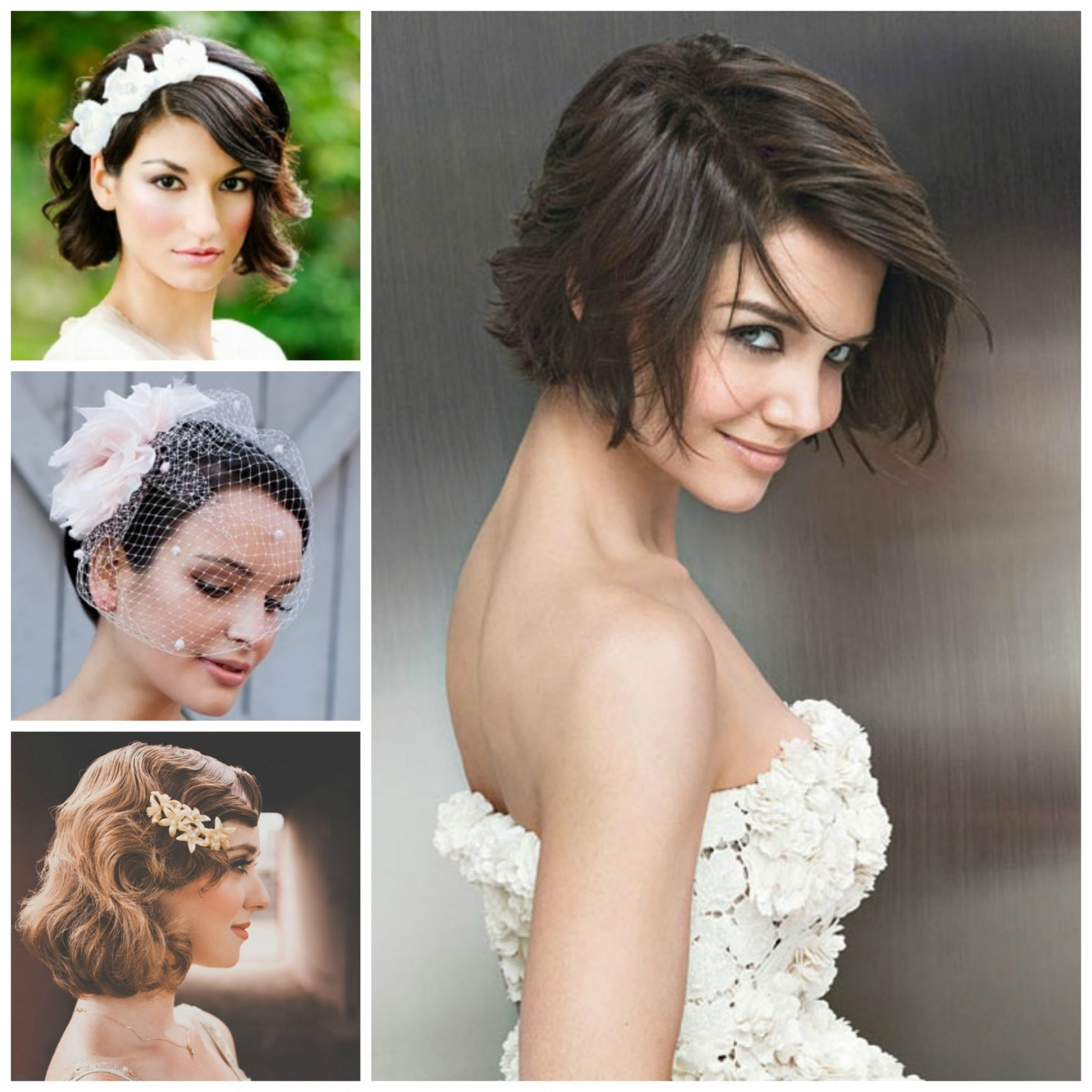Favorite Wedding Hairstyles For Bridesmaids With Short Hair In Short Wedding Hairstyles Look Pretty With Bridal Ideas Bridesmaid (View 7 of 15)