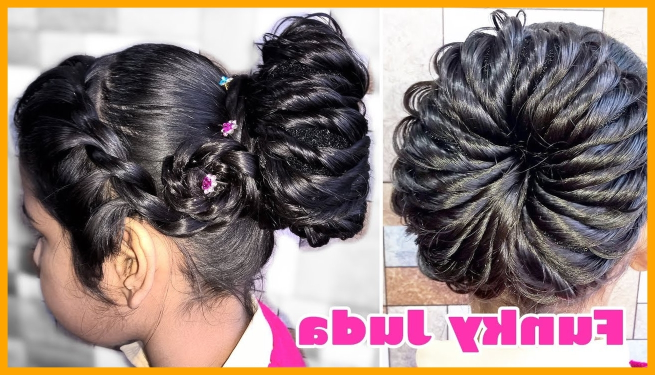 Favorite Wedding Juda Hairstyles With Regard To Awesome Funky Juda Hairstyles Very Simple And Stylish For Wedding Or (View 13 of 15)