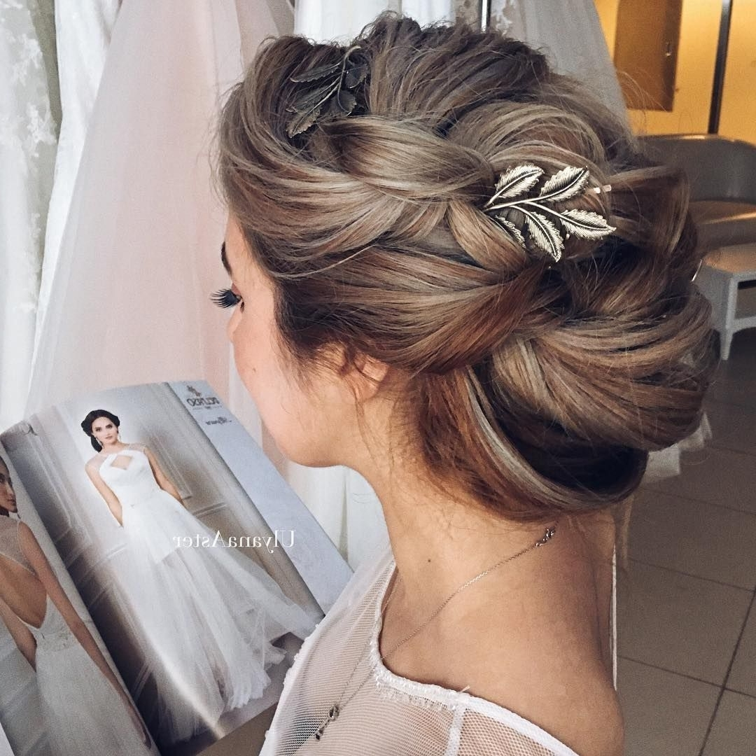 Favorite Wedding Updos For Long Hair Bridesmaids With Hair #ulyanaaster Master Class Salon @wedding Chic  Model (View 5 of 15)