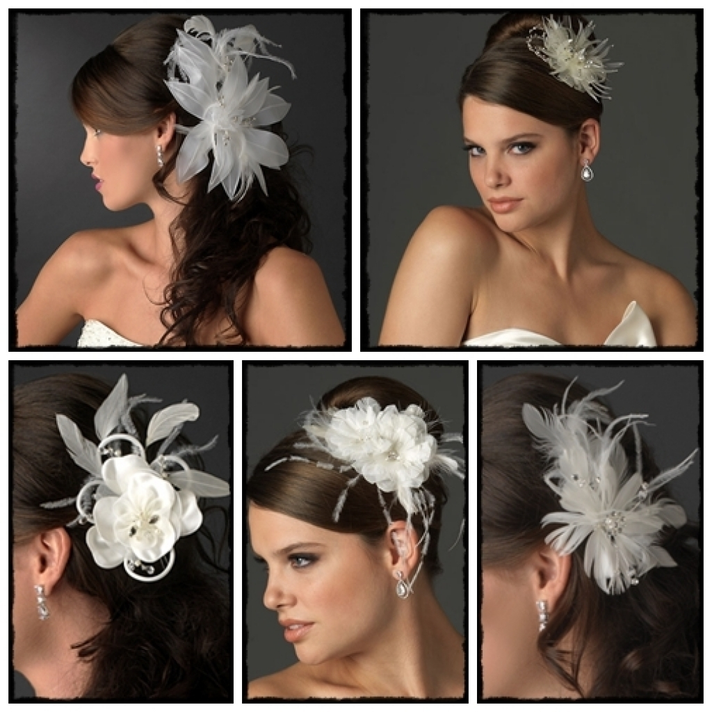 Female Within Current Wedding Guest Hairstyles For Long Hair With Fascinator (View 3 of 15)