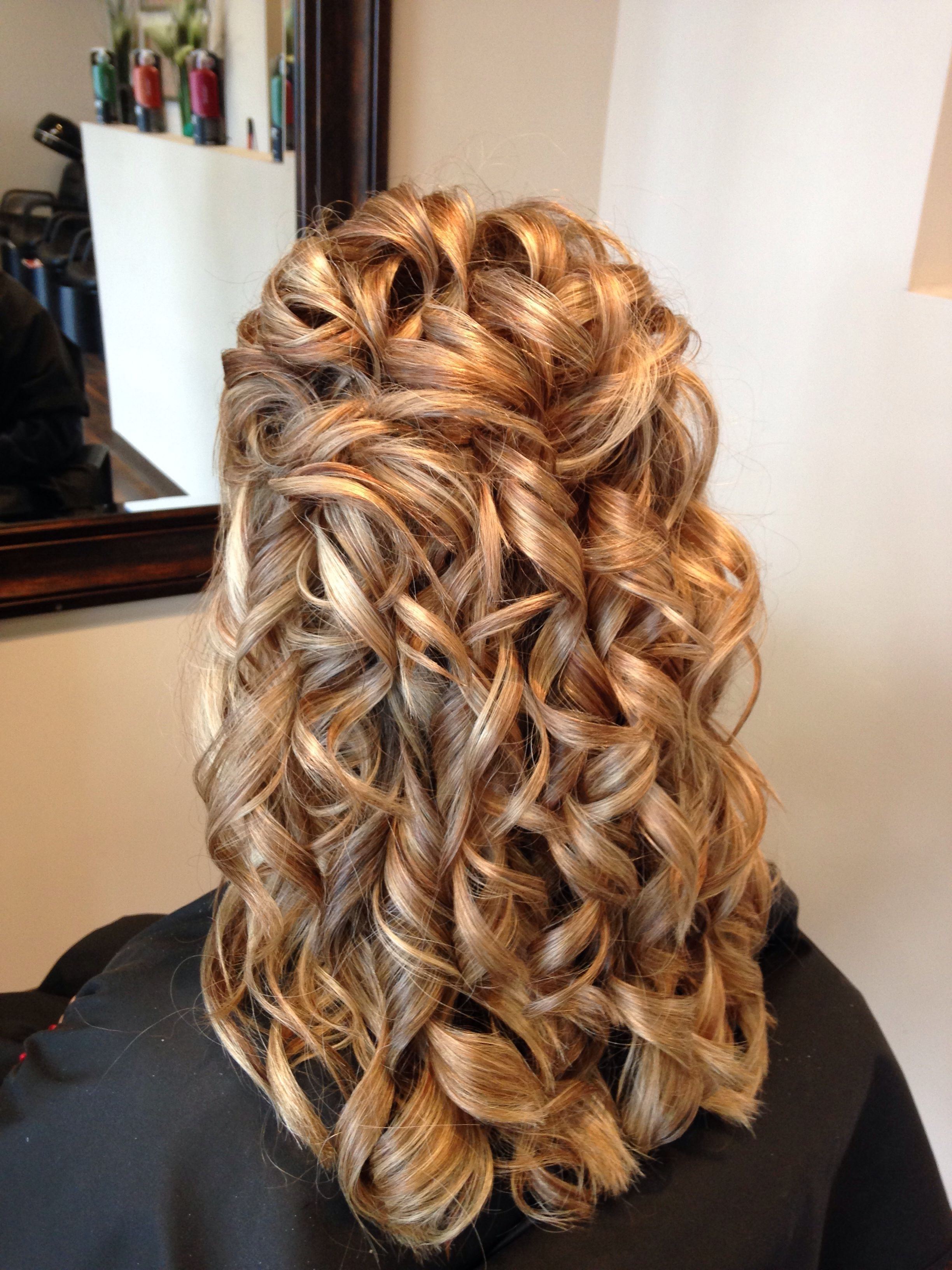For My Sons Wedding, Partial Updo, Formal, Wedding, Hairstyles, Long Within Recent Partial Updo Wedding Hairstyles (View 11 of 15)