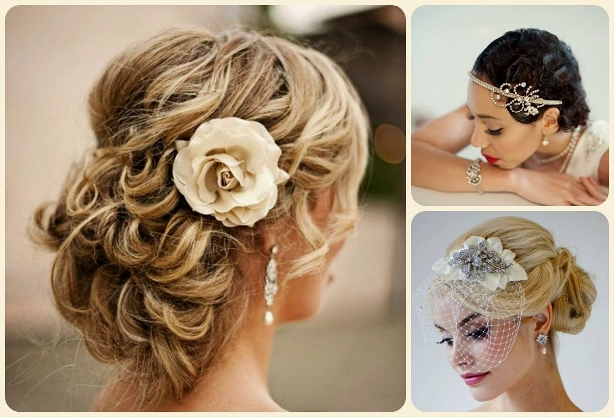 Formidable Wedding Hairstyles For Short Curly Hair Hairstyle Youtube Regarding Favorite Cute Wedding Hairstyles For Short Curly Hair (View 3 of 15)