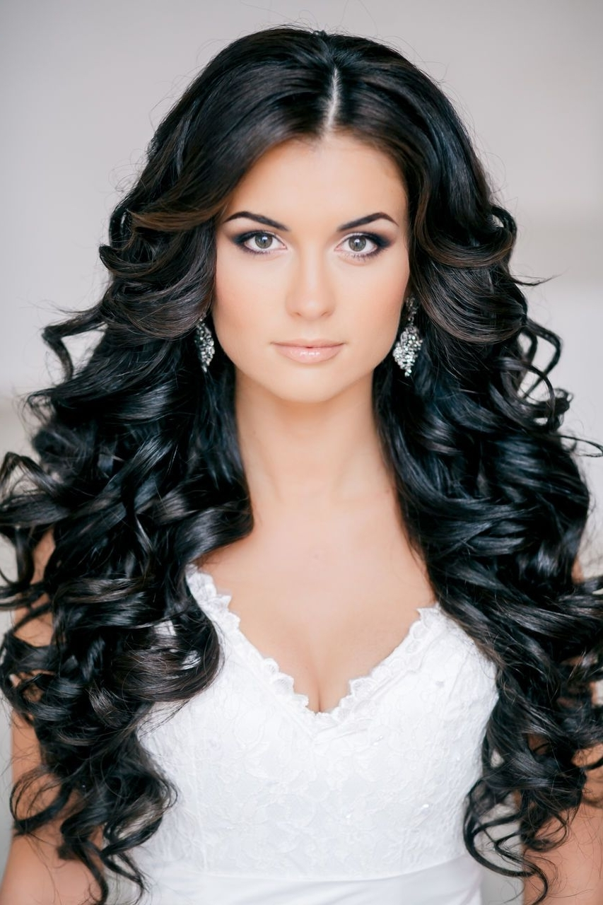 Gallery Wedding Hairstyles Curls Ideas For Brides: Down Curls, Soft With Most Current Wedding Hairstyles For Long Loose Curls Hair (Gallery 9 of 15)