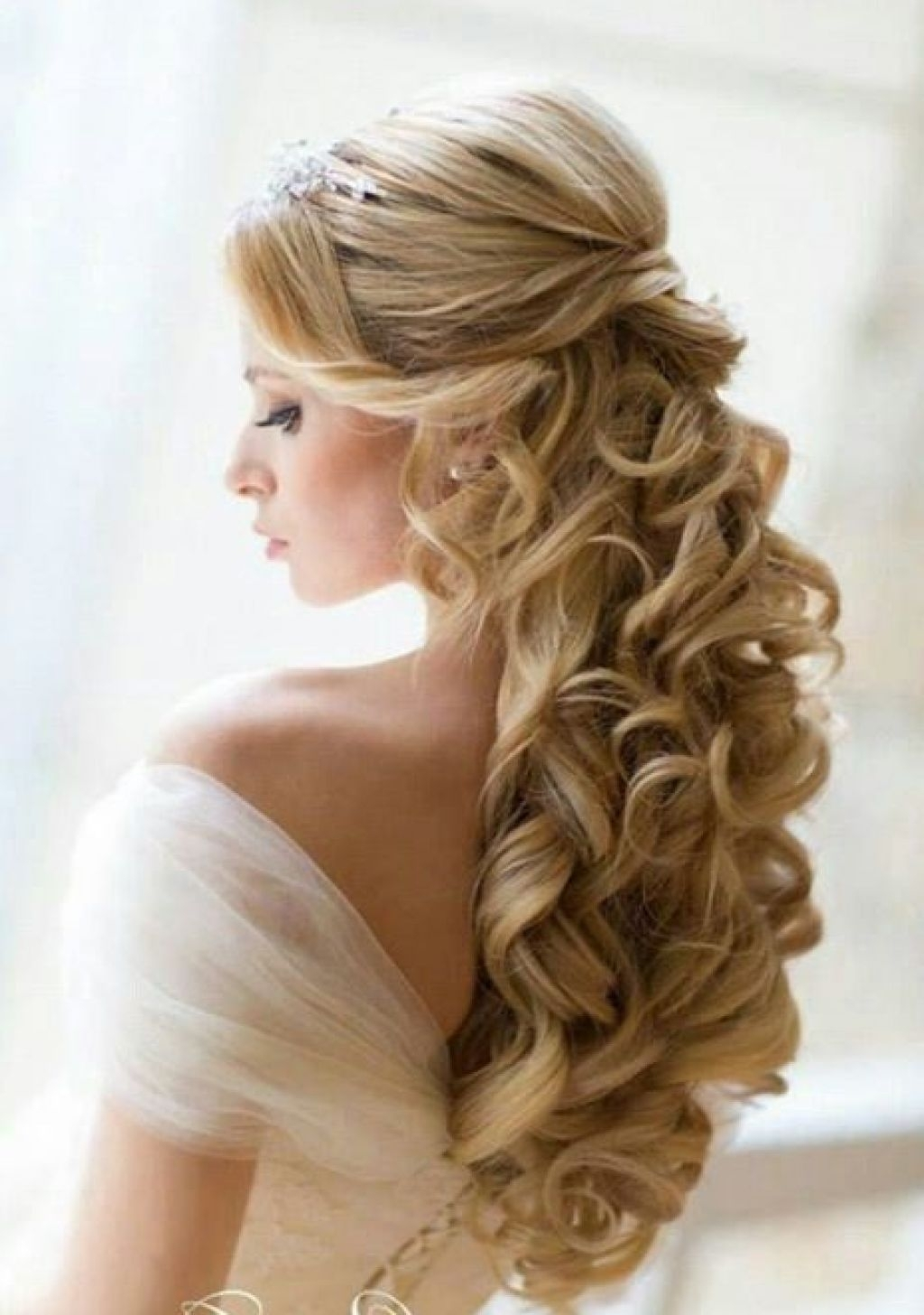 Glamorous Updo Hairstyles Glamour Style Wedding Half Updos Long Hair With Preferred Glamorous Wedding Hairstyles For Long Hair (Gallery 13 of 15)