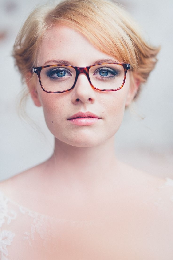 Glasses, Eye Glasses And Brides For Well Known Wedding Hairstyles With Glasses (Gallery 7 of 15)