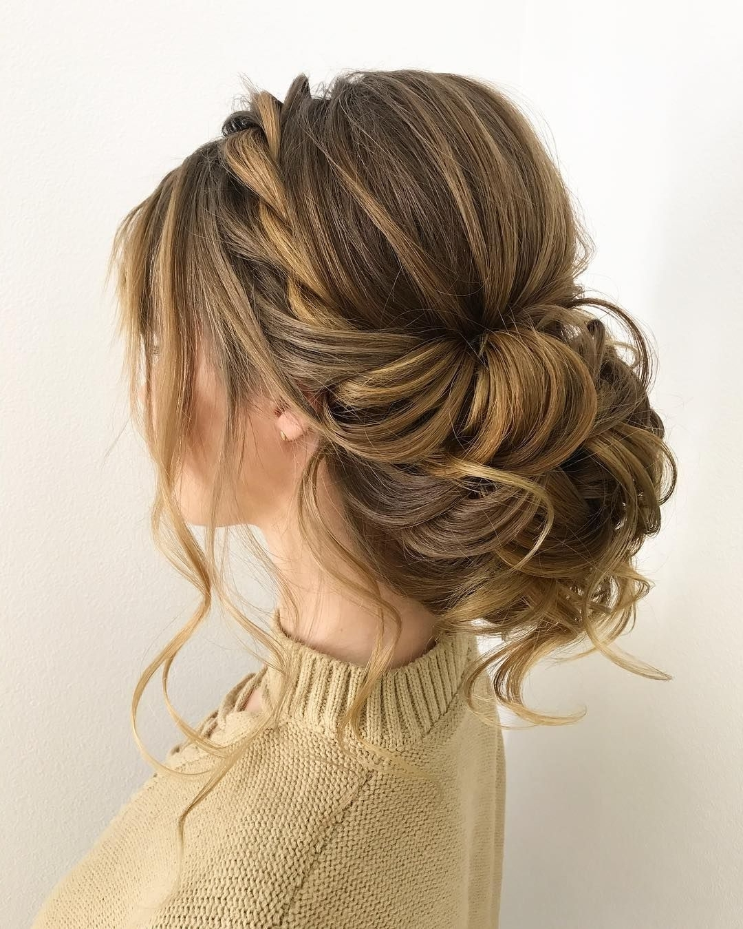 Gorgeous Wedding Updo Hairstyles That Will Wow Your Big Day For Fashionable Wedding Updos Hairstyles For Medium Length Hair (View 9 of 15)