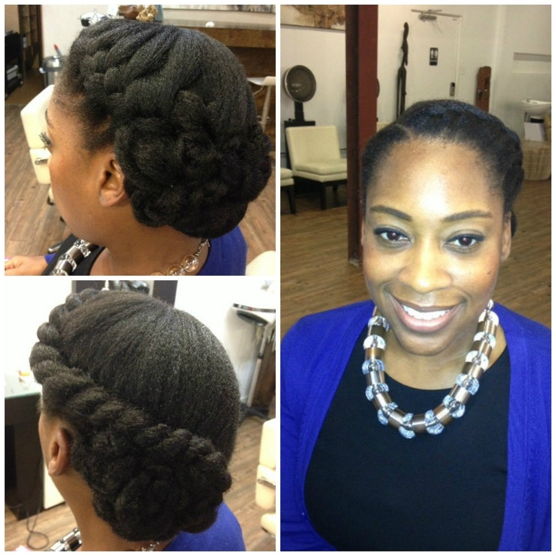 Greasy Hair Colors As For Beautiful Wedding Hairstyles For Natural Throughout Latest Wedding Hairstyles For Natural African American Hair (Gallery 7 of 15)