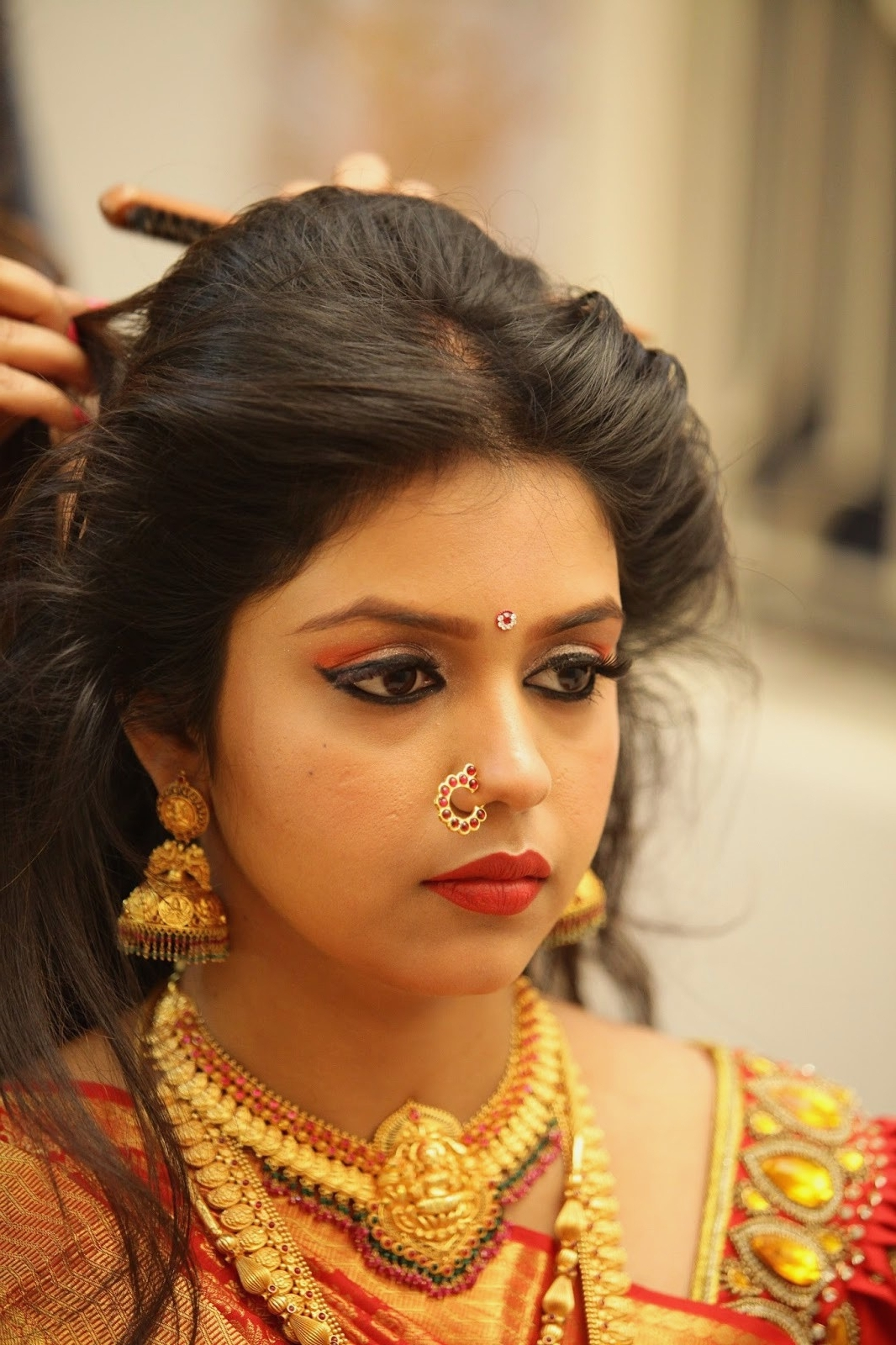 Hair Style For South Indian Wedding Stepstep Wedding Hairstyles In Widely Used South Indian Wedding Hairstyles (View 4 of 15)