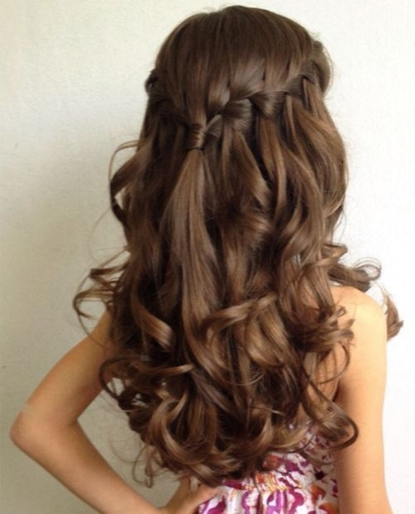 Hair Styles Girls Wedding Hairstyles For Little Girls Best Photos For Newest Wedding Hairstyles For Girls (View 9 of 15)