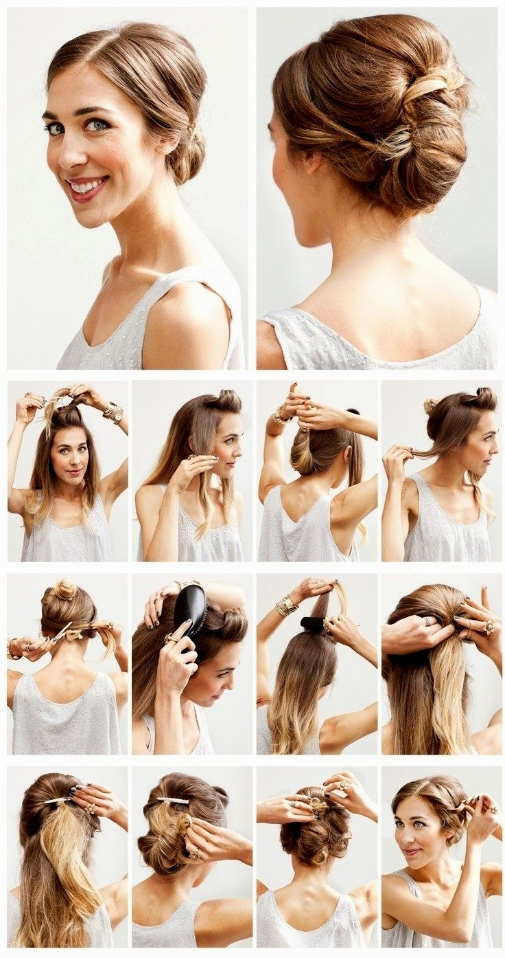 Hair Updo Steps For Long Hair For Bridesmaid Easy Wedding Hairstyles In 2017 Easy Wedding Hair For Bridesmaids (View 5 of 15)