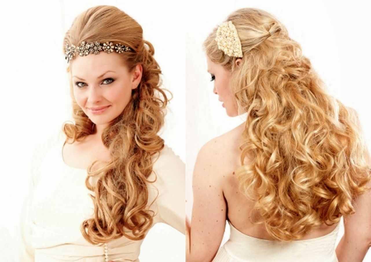 Hair Wedding Hairstyles Wedding Hairstyles Long Curly Hair (View 8 of 15)
