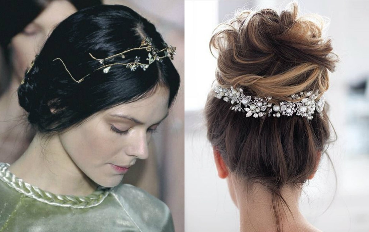 Hairdrome In Current Wedding Hairstyles With Jewelry (View 9 of 15)