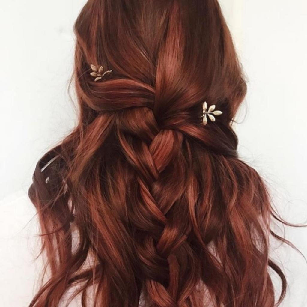 Hairstyle Braids Tutorial 2018 Wedding Hairstyles Long Red Hair 25 In Well Known Wedding Hairstyles For Long Red Hair (View 7 of 15)