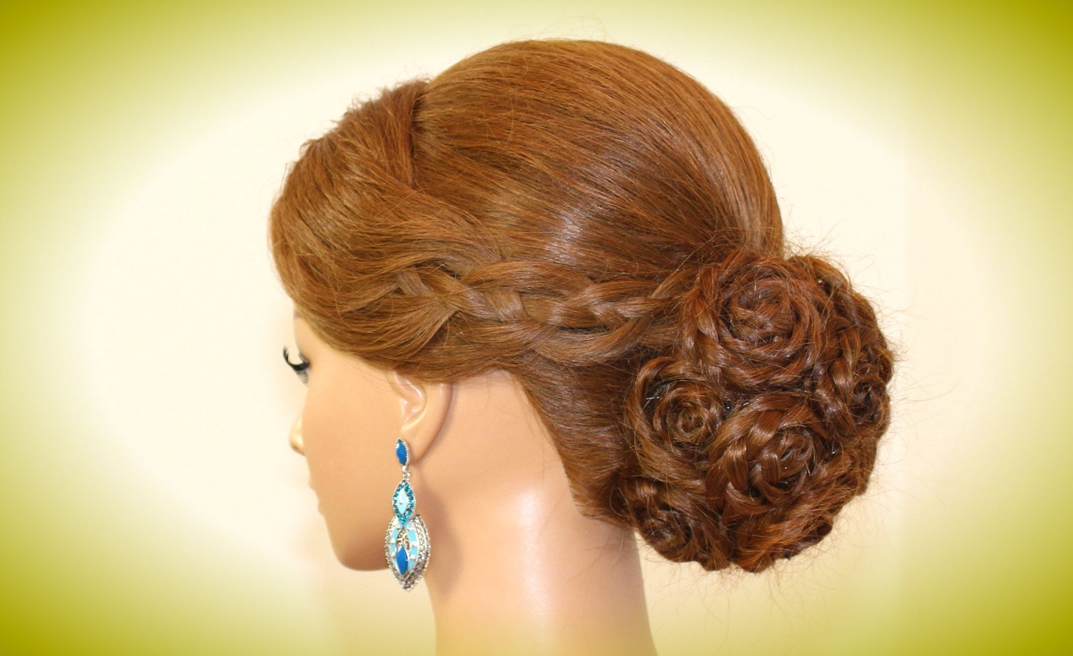 Hairstyle For Long Hair. Braided Bun Updo (View 6 of 15)
