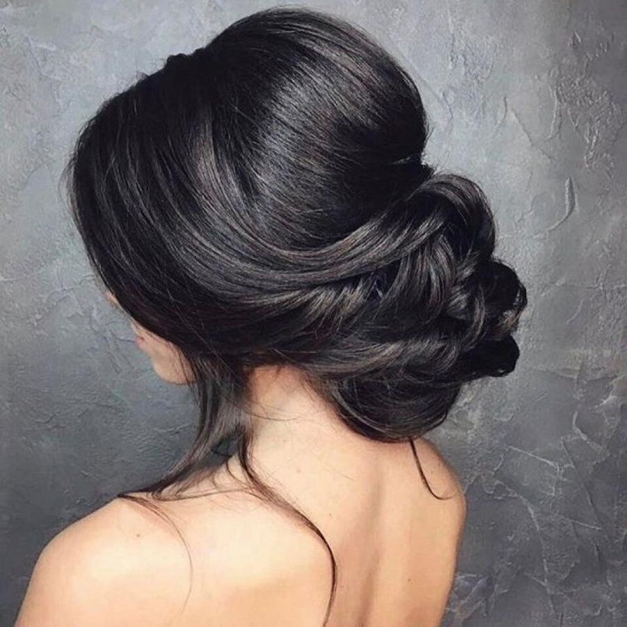 Hairstyle Low Bun Wedding Low Bun Wedding Hair Bridal Chignon Low Intended For Current Chignon Wedding Hairstyles (View 7 of 15)