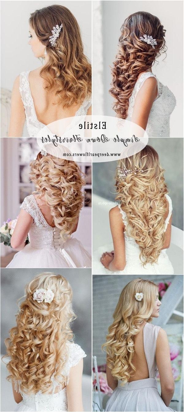 Hairstyles Best Ideas For Wedding Hairstyles : Elstile Long Wavy Inside Newest Elstile Wedding Hairstyles For Long Hair (View 12 of 15)