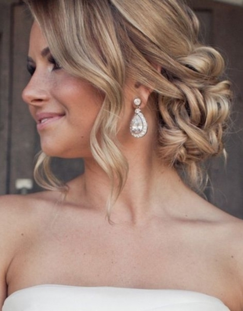 Hairstyles ~ Easy Romantic Wedding Hairstyle For Long Medium Hair Regarding Widely Used Low Updo Wedding Hairstyles (View 13 of 15)