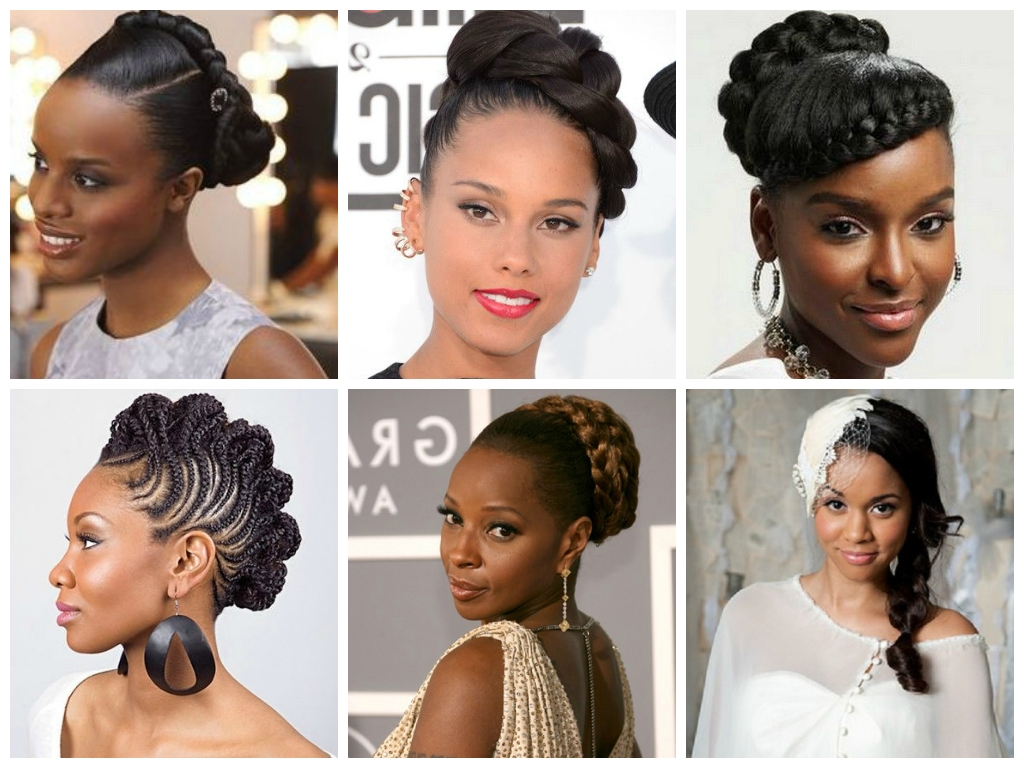 Hairstyles For Black Bridesmaids Wedding Hairstyles For Black Women Throughout Current Wedding Hairstyles With Braids For Black Bridesmaids (View 7 of 15)