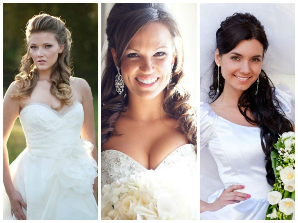 Featured Photo of Wedding Hairstyles For Round Face With Medium Length Hair