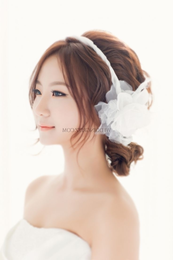 Hairstyles For Pre Wedding Elegant Korean Bridal Hairstyles Korea Pertaining To Popular Korean Wedding Hairstyles For Long Hair (View 2 of 15)