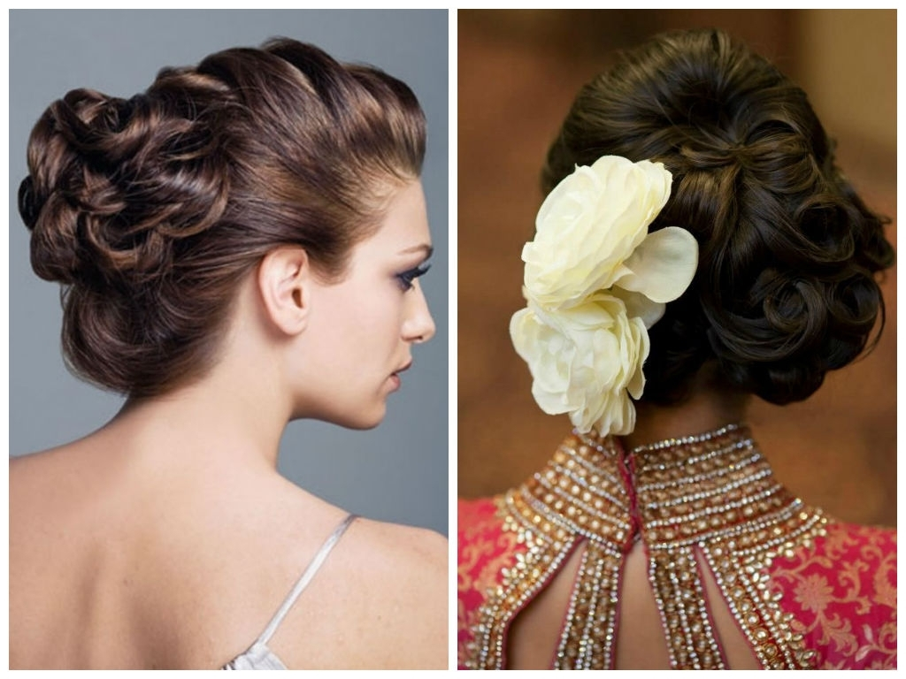 Hairstyles For Shoulder Length Hair For Indian Wedding Simple Hair Pertaining To Latest Simple Indian Bridal Hairstyles For Medium Length Hair (View 3 of 15)