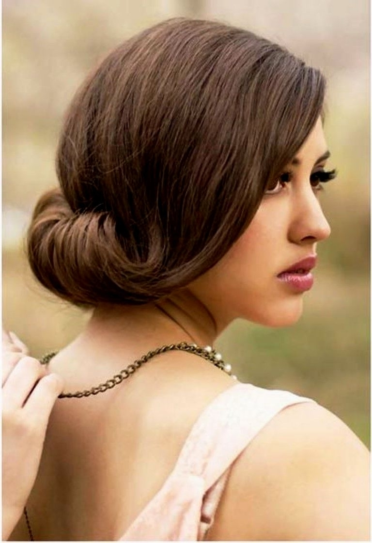 Hairstyles For Wedding Guest According To Healthy Hair Types Inside Famous Wedding Easy Hairstyles For Medium Hair (View 13 of 15)