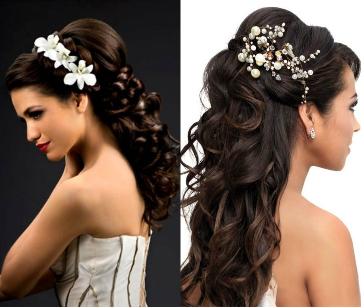 Hairstyles Half Up And Down For Wedding Ideas Mediumth Hair Guest Intended For Latest Wedding Guest Hairstyles For Long Hair With Fascinator (View 8 of 15)