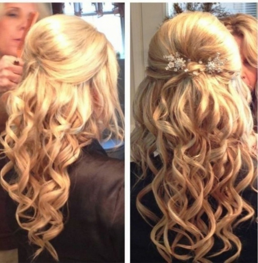 Hairstyles ~ Half Up Half Down Wedding Hairstyles Partial Updo Pertaining To Widely Used Partial Updo Wedding Hairstyles (View 6 of 15)
