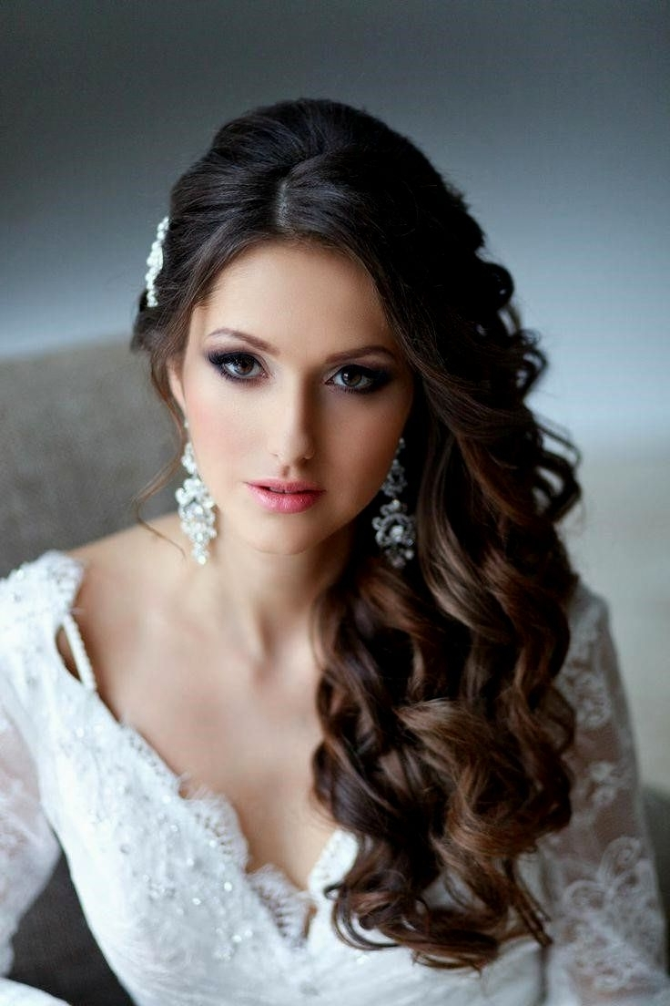 Hairstyles Ideas Regarding Favorite Wedding Hairstyles Down With Veil (View 6 of 15)