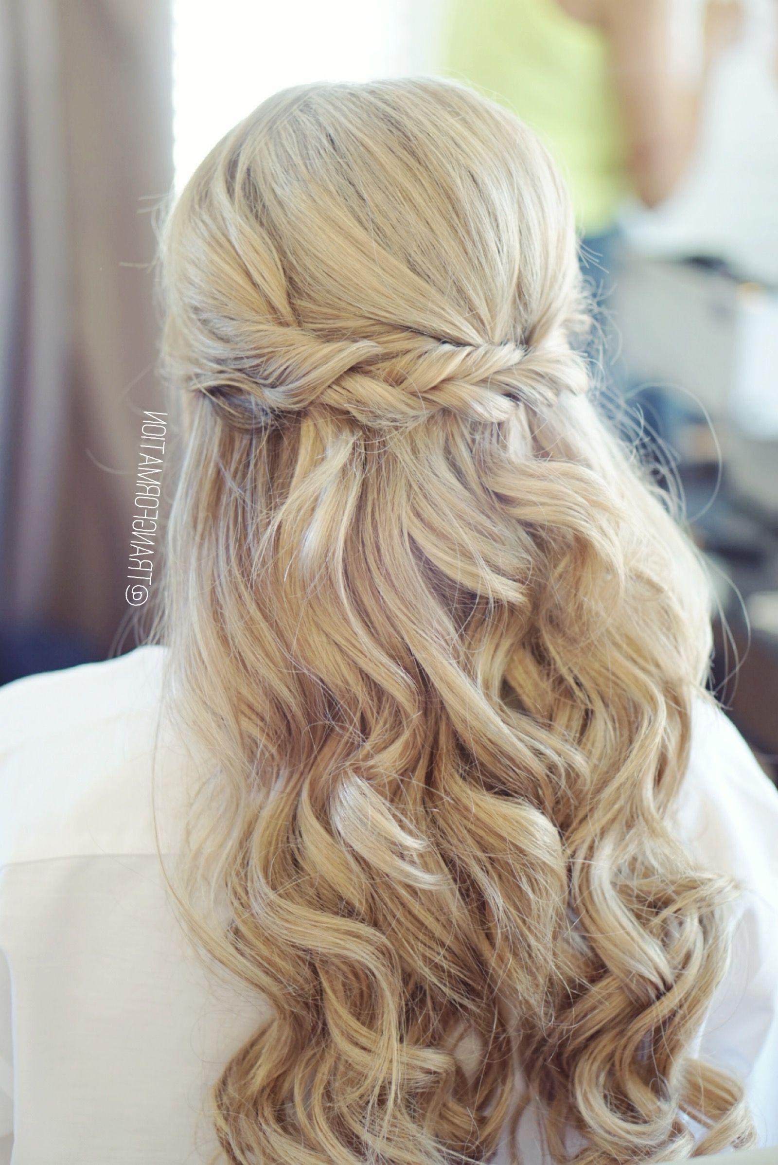 Half Up Half Down, Bridal Hair, Wedding Hair, Bride, Wedding Inside Trendy Hair Up Wedding Hairstyles (View 3 of 15)