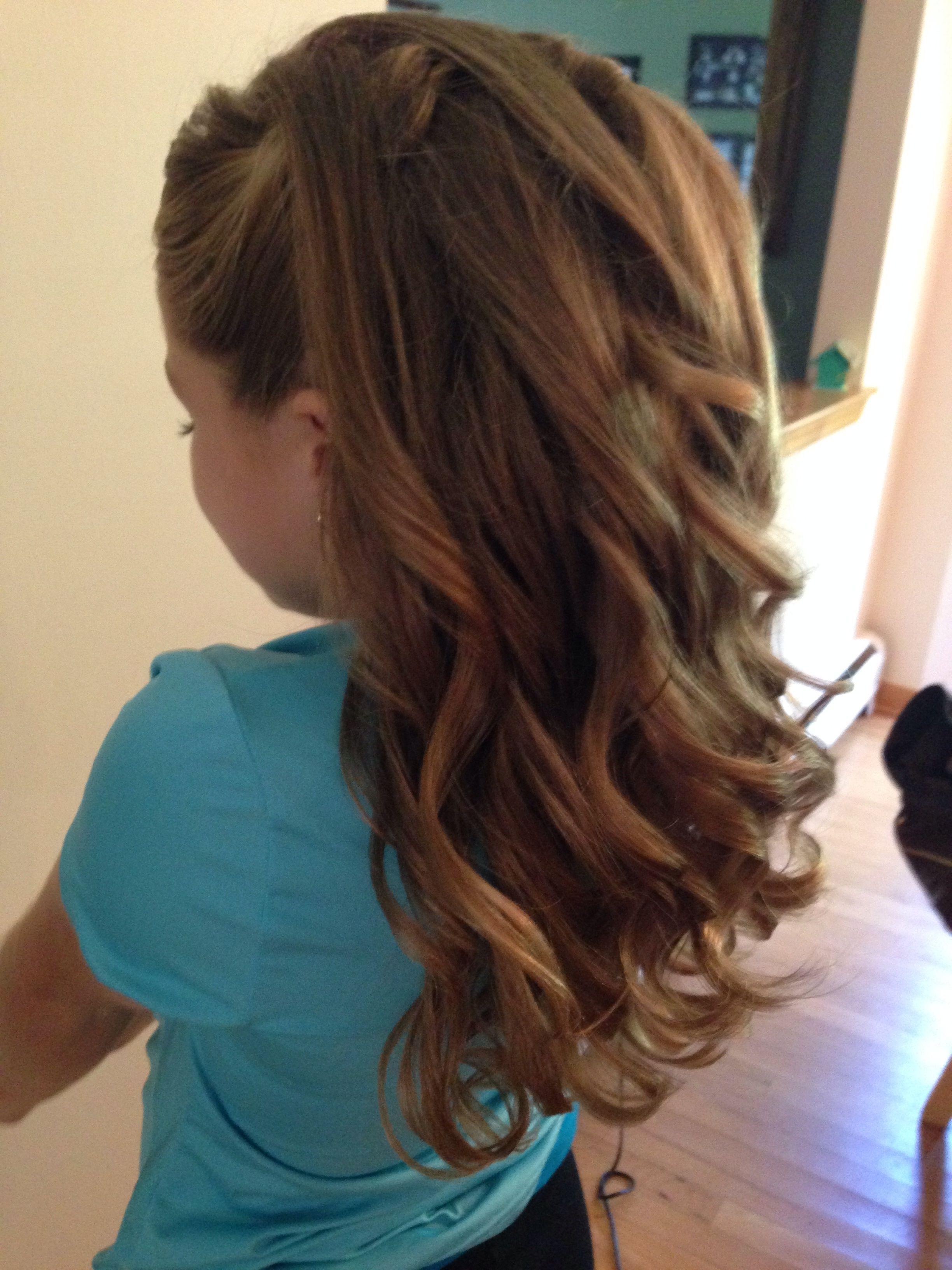 Half Up Half Down Curls/junior Bridesmaid (View 6 of 15)