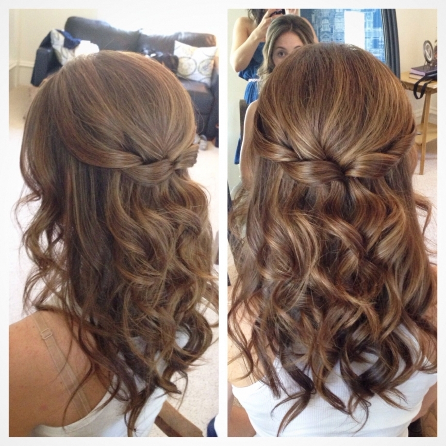 Half Up Half Down Hair Wedding Hair Pretty Hair But With Softer Intended For Current Wedding Hairstyles Down For Medium Length Hair (View 5 of 15)